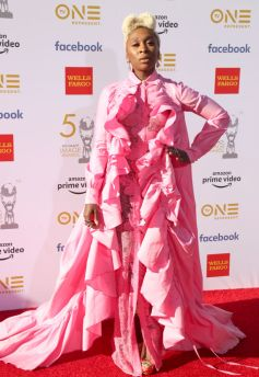 HOLLYWOOD, CALIFORNIA - MARCH 30: Cynthia Erivo attends the 50th NAACP Image Awards at Dolby Theatre on March 30, 2019 in Hollywood, California. (Photo by Liliane Lathan/Getty Images for NAACP)