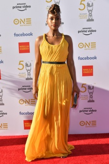 Mandatory Credit: Photo by Rob Latour/REX/Shutterstock (10181038bi) Issa Rae 50th Annual NAACP Image Awards, Arrivals, Dolby Theatre, Los Angeles, USA - 20 Mar 2019