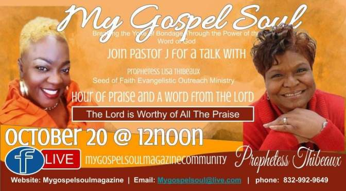 "Watch ""My Gospel Soul Live"" on YouTube"