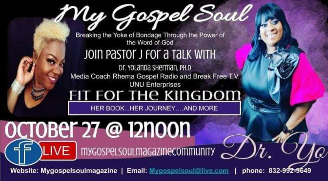Tomorrow on My Gospel Soul Live: Special Guest Dr. Yo